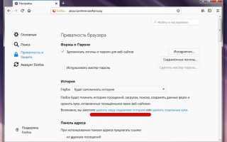 Почистить браузер фаерфокс