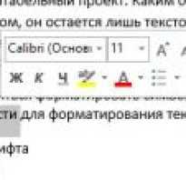 Ms word форматирование