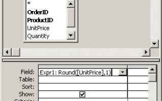 Access функция округления