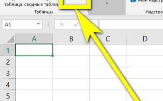 Как правильно сделать таблицу в excel