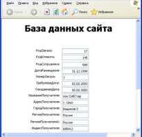 Веб база данных access