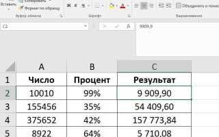 Excel убрать округление после запятой