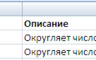 Excel округлить до целого