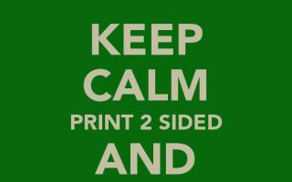 Как распечатать двухсторонний документ в word