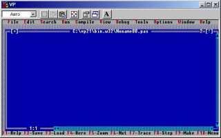 Среда программирования turbo pascal